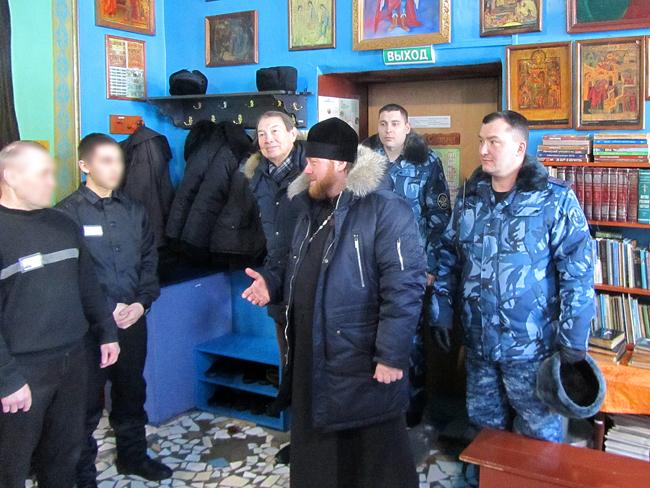 Председатель Отдела по тюремному служению Казанской епархии иерей Евгений Гаврилкин встретился с осужденными в исправительной колонии №18