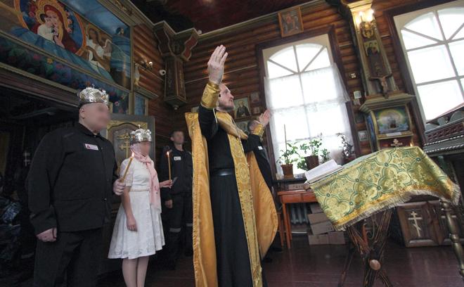 В исправительной колонии №2 УФСИН России по Республике Татарстан прошел обряд венчания